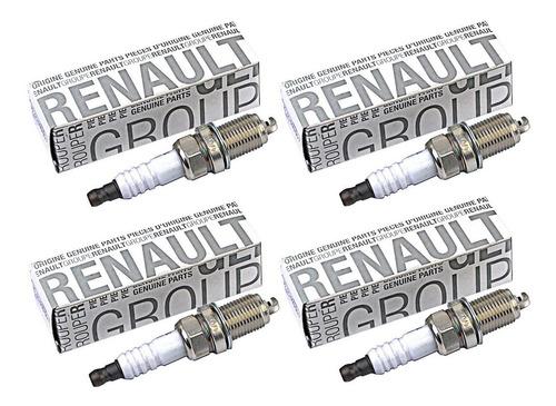 Kit 4 Bujia Encendido Renault Kangoo Duster Logan 1.6 K4m