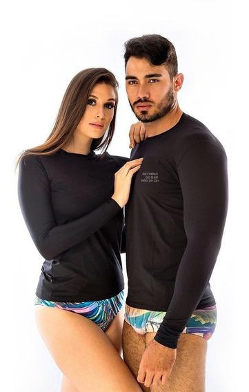 Camiseta Proteção Solar Uv Corrida Natação Pesca Manga Longa