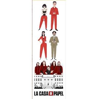 Plancha De Stickers De Series La Casa De Papel