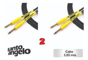 2 Cabos Guitarra Shogun 10ft / 3,05 Mts -0,75mm Santo Angelo