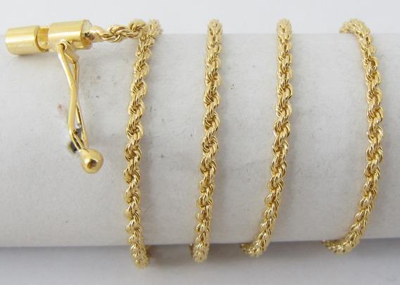 7109 Corrente Curta 40 Cm De Ouro 18k 750