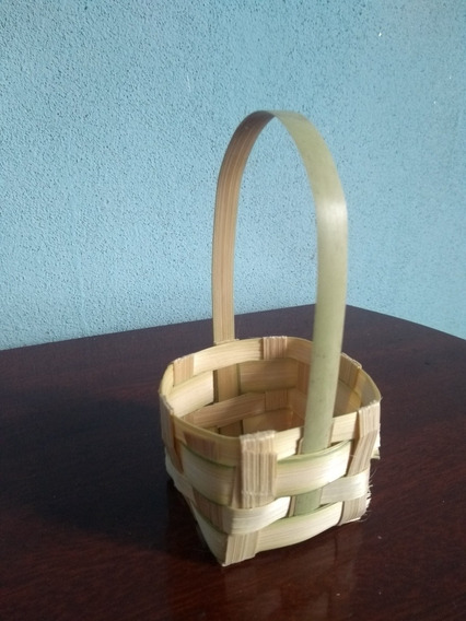 Kit 20 Cestinhas De Bambu 5x5 Lembrancinha Decoração