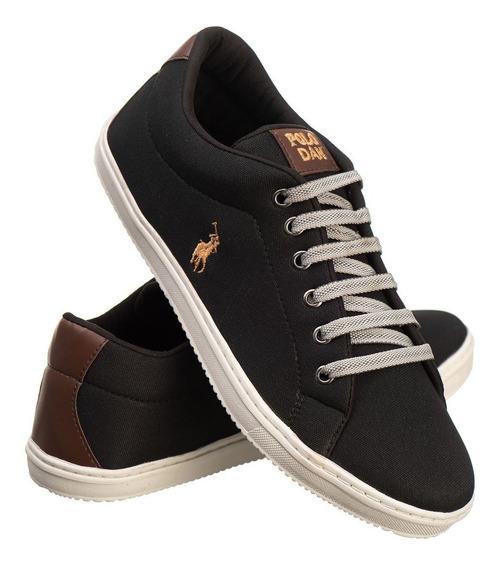 Sapatênis Miami Casual Cadarço - Preto - Sf Shoes