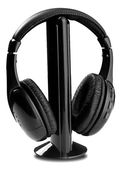 Audifonos Auriculares 5 En 1 Inalambricos Microfono Fm Pc Tv