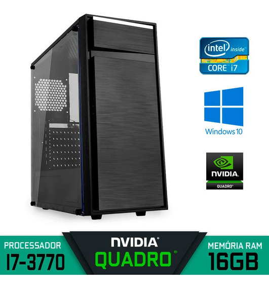 Pc Gráfico Intel Core I7-3770 Ram 16gb Ssd 240gb Win 10