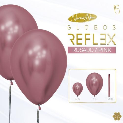 Globo Sempertex R-12 Reflex (cromado) Rosado X 50