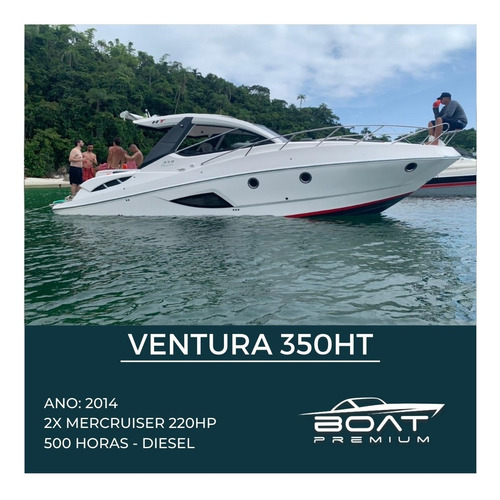 Ventura 350ht, 2014,2x Mercruiser 220hp - Feretti - Real Top