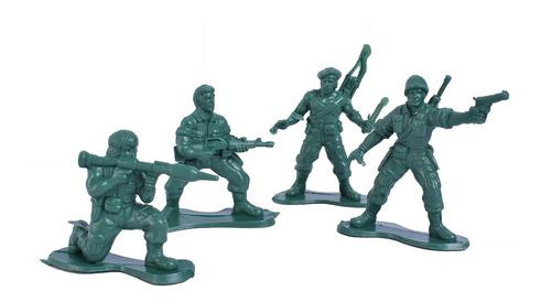 Juego De Combate Soldados De Plástico Miluplast
