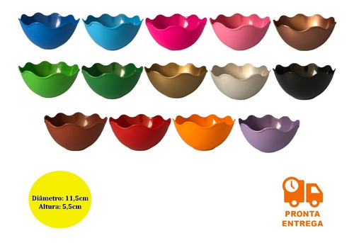 Imagem 1 de 4 de 30 Cumbuca De Plástico Para Sobremesa - Tigela - 300 Ml
