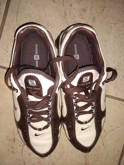 Nike Shox Todo Em Couro Top