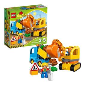 Lego Duplo Caminhão E Retro Escavadeira 10812 - Original Eua