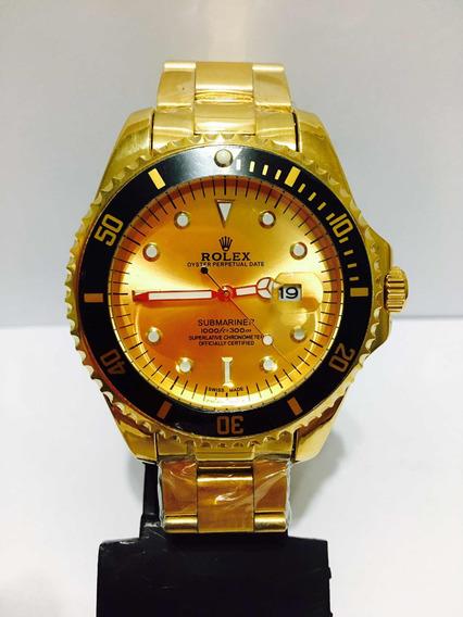 Relógio Modelo Submariner De Caixa Grande 45mm Gold