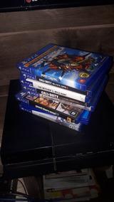 Playstation 4 Com 8 Jogos E 2 Controles