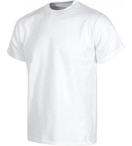 Camisetas Cuello Redondo Algodon Blancas X Mayor 10 Unidades