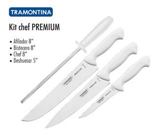 Juego De Cuchillos De 4 Pzs Premium Tramontina Para Cocina
