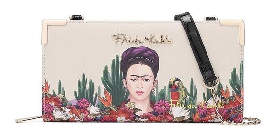 Frida Kahlo Original Billetera Fc928 Black