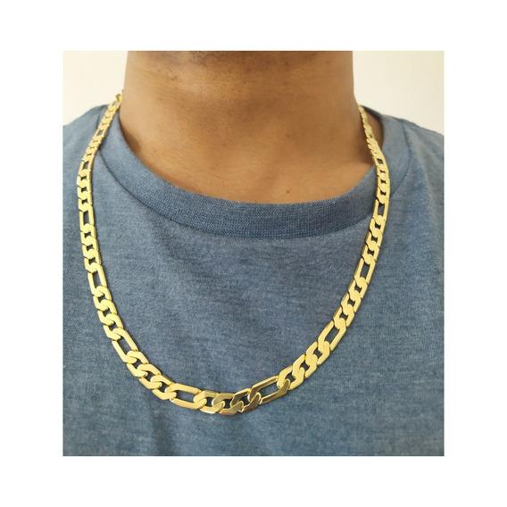 Corrente Masculina Banhada A Ouro Com Garantia 1 Ano - Qm18c