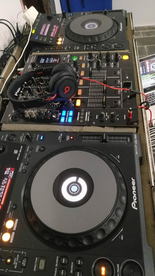 Cdj Pioneer 900 + Mixer Pioneer 800 + Case Pra Transporte