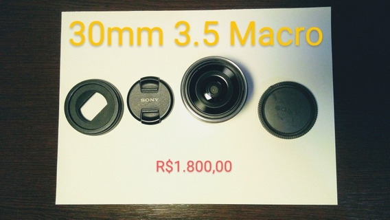 Lente Sony E-mount. 30mm Macro 3.5 (a Mais Barata Do Ml)