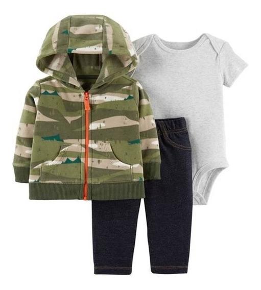 Carters Kit 3 Pçs Fleece Soft Inverno Menina Menino Original