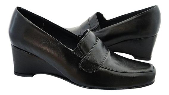 Zapatos De Cuero Tacon Corrido Uniforme Al Mayor Y Detal