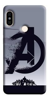Estuche Forro Carcasa Avengers Logo iPhone Samsung Huawei