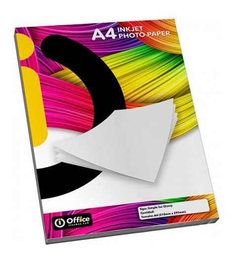 Papel Foto Autoadhesivo Glossy A4 150gr 50 Hojas Office