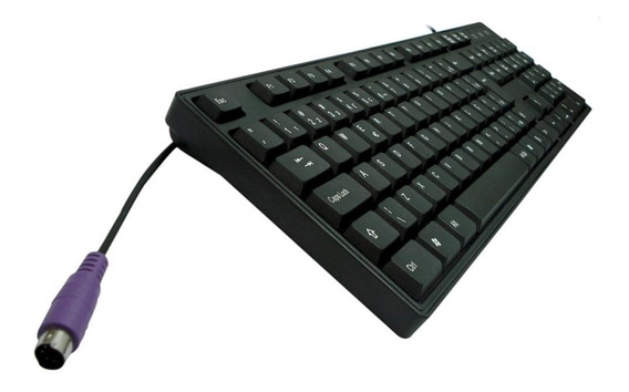 Teclado Preto Ps2 Serve Para Computador Entrada Antiga