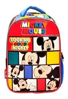 Mochila Espalda Mickey 12 Jardin Nene Original Disney