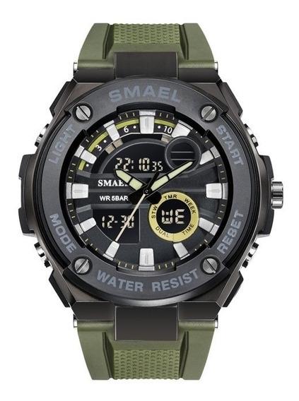 Relógio Smael 1625 Verde Prova D