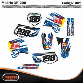 Kit Adesivo Moto Cross Trilha Honda Xr200 Xr-200