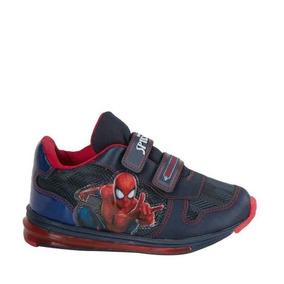 Tenis Casual Spiderman 2722 Color Marino De Niño Comodo