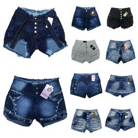 Roupas Femininas Kit De 10 Shorts Jeans Cós Médio 34ao44