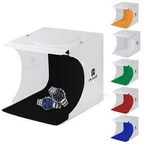 Photo Box Estúdio C/ Luz 20 Leds Mini Studio Para Joalheria