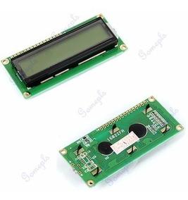 Display Lcd C/ Back Ligth 16/02 - Lote C/ 5 Peças