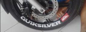 Adesivos Quiksilver Peugeot Para Rodas Motos Kit 4 Unidades