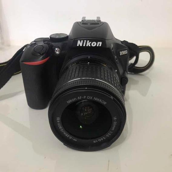 Câmera Dslr Nikon D5600 C/ Lente 18-55mm