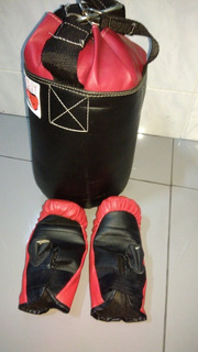 Saco De Boxe Com Luvas Pequeno