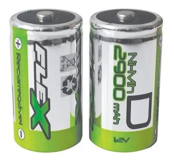 Pilhas Baterias Recarregáveis Flex 2900 Mah 1.2v Novo