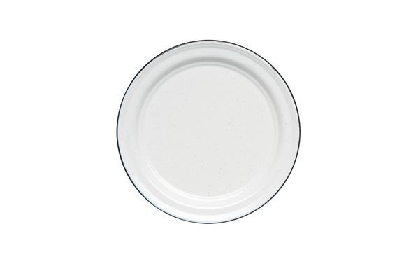 Juego De Plato Principal De Peltre, 6 Piezas Blanco