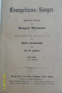 Antiguo Libro Música Ca....gelinms Säuger Gospel Heymns