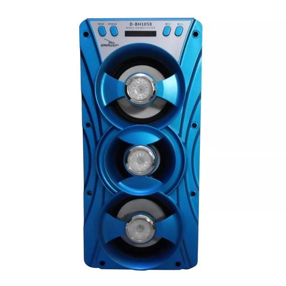 Caixa De Som Amplificada Bluetooth Usb P2 Grasep D-bh1058