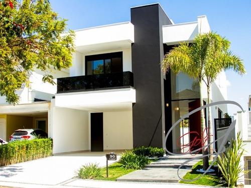 Imagem 1 de 26 de Casa Sobrado Condomínio Lorian Boulevard, 378 M2, Terreno 384m2, Nova, 4 Dormitórios Sendo 4 Suítes, Linda Casa, Com Piscina. - Ca00435 - 68872425