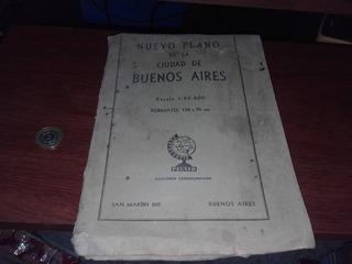 Antigüedad Plano De La Ciudad De Buenos Aires
