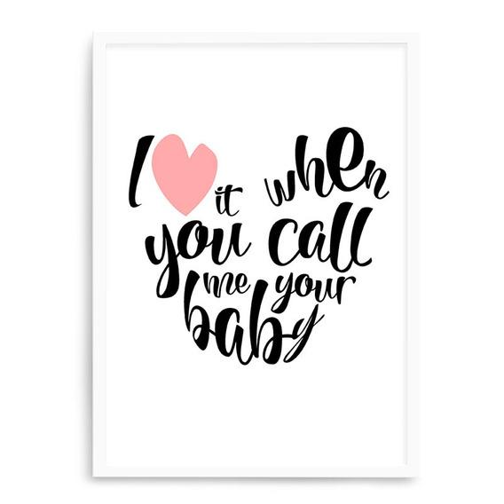Quadro Branco Call Me Baby 23x33 Cm