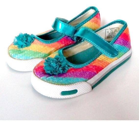 Zapatos Guillermina Sketchers Brillos Importados Us T23