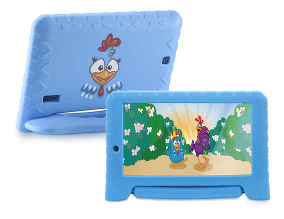 Tablet Para Criança Multilaser Kids Galinha Pintadinha +capa
