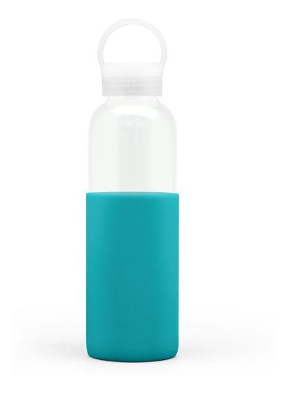 Botella De Vidrio Ó Borosilicato 500ml Manga Silicona Gato