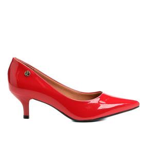 2fd1ebadb6 Sapato Scarpin Vizzano Camurca Caramelo - Sapatos Vermelho no ...