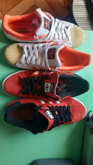 Tenis adidas 45br. Kit Com 2 Pares Com Sola Zerada